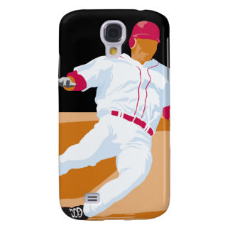 baseball player slide vector graphic galaxy s4 cover