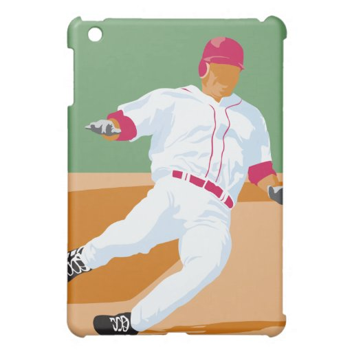 baseball player slide vector graphic iPad mini cover