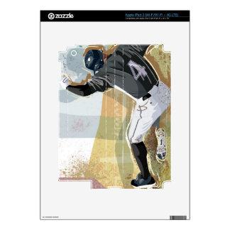 Baseball Player Sliding 2 iPad 3 Decals