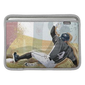 Baseball Player Sliding 2 MacBook Air Sleeve