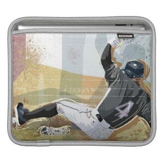 Baseball Player Sliding 2 iPad Sleeves