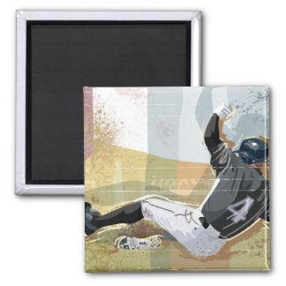 Baseball Player Sliding 2 Magnet