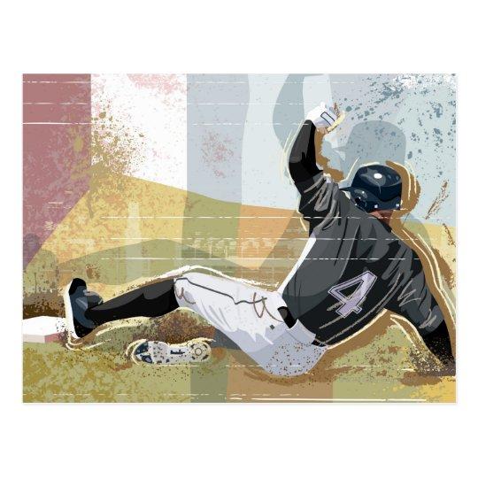 Baseball Player Sliding 2 Postcard