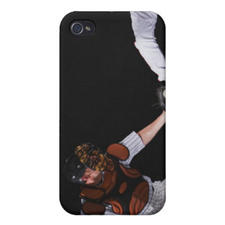 Baseball player sliding into a base cover for iPhone 4