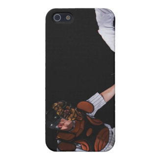 Baseball player sliding into a base cover for iPhone SE/5/5s