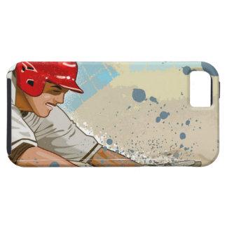 Baseball player sliding into base iPhone SE/5/5s case