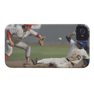 Baseball player sliding into third base with Case-Mate iPhone 4 case