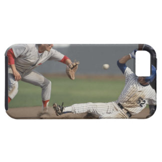Baseball player sliding into third base with iPhone SE/5/5s case