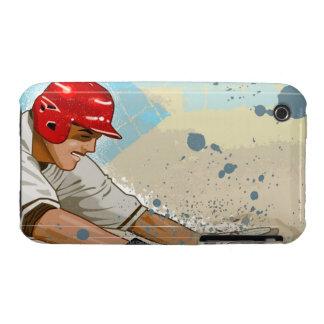 Baseball Player Sliding iPhone 3 Case