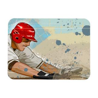 Baseball Player Sliding Magnet