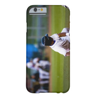 Baseball player sliding onto a base barely there iPhone 6 case