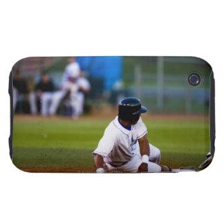 Baseball player sliding onto a base tough iPhone 3 covers