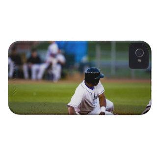 Baseball player sliding onto a base iPhone 4 cover