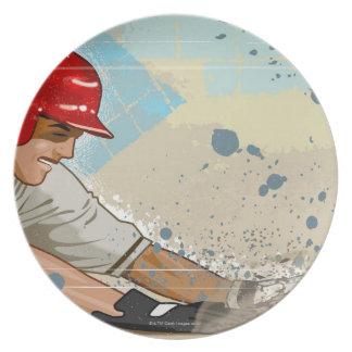 Baseball Player Sliding Plate