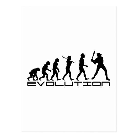 Baseball Player Sport Evolution Art Postcard