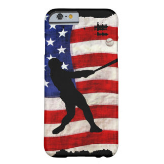 Baseball Player Sports Ball Game US Flag Barely There iPhone 6 Case