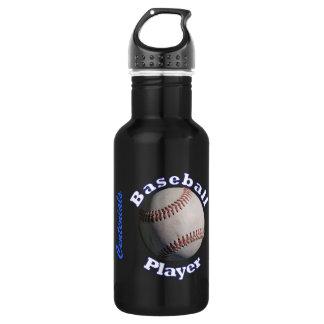 Baseball Player Stainless Steel Water Bottle