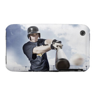 Baseball player swinging baseball bat 2 iPhone 3 Case-Mate case