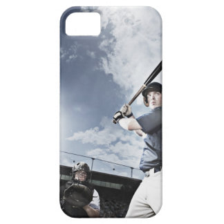 Baseball player swinging baseball bat iPhone SE/5/5s case