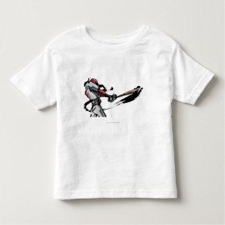 Baseball player swinging bat, side view t-shirt