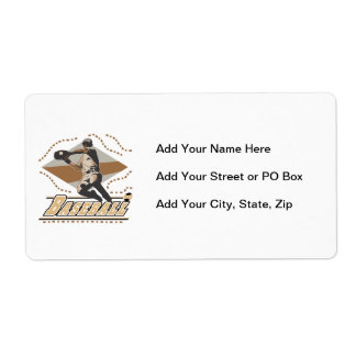 Baseball Player T-shirts and Gifts Shipping Label
