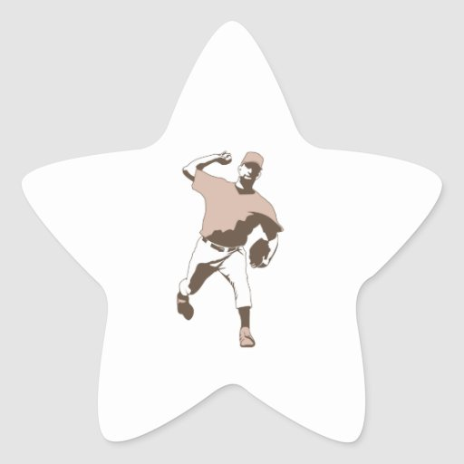 baseball player throwing vector graphic stickers