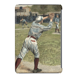 Baseball Player Thrown Out at Second Base iPad Mini Retina Cover