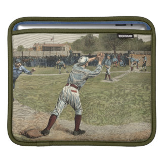 Baseball Player Thrown Out at Second Base iPad Sleeve