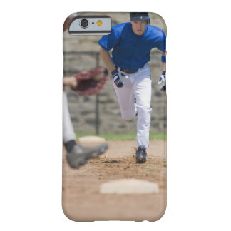 Baseball player trying to steal base barely there iPhone 6 case