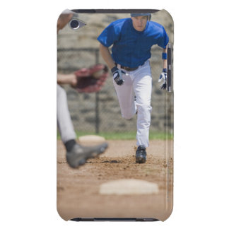 Baseball player trying to steal base iPod touch case