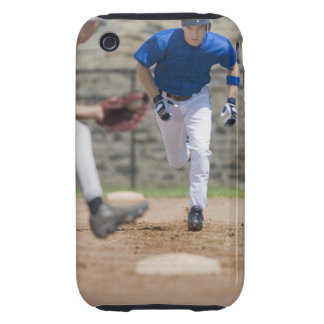 Baseball player trying to steal base tough iPhone 3 cases