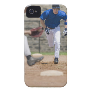 Baseball player trying to steal base iPhone 4 case
