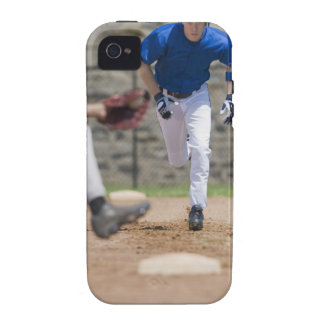 Baseball player trying to steal base iPhone 4/4S case