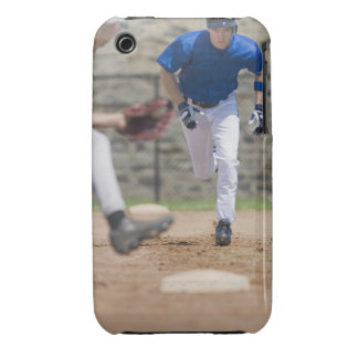 Baseball player trying to steal base iPhone 3 Case-Mate case