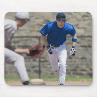 Baseball player trying to steal base mouse pad