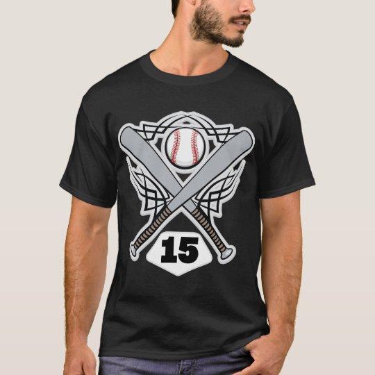 Baseball Player Uniform Number 15 T-Shirt