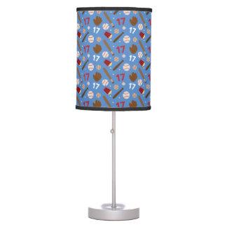Baseball Player Uniform Number 17 Gift Idea Table Lamp