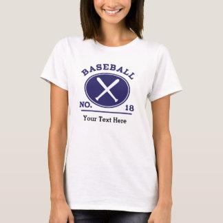 Baseball Player Uniform Number 18 Gift Idea T-Shirt