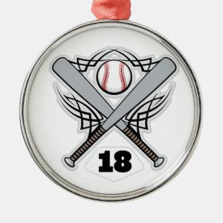 Baseball Player Uniform Number 18 Christmas Tree Ornament