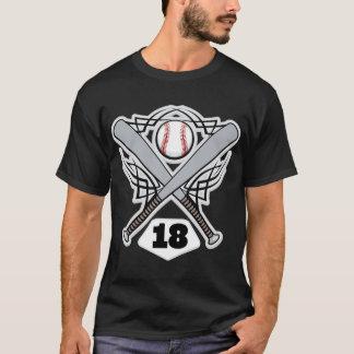 Baseball Player Uniform Number 18 T-Shirt