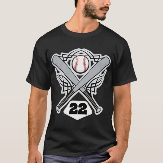 Baseball Player Uniform Number 22 T-Shirt