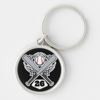 Baseball Player Uniform Number 26 Keychains