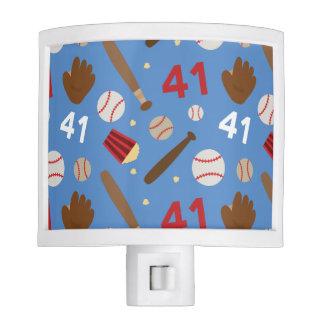 Baseball Player Uniform Number 41 Gift Idea Nite Lites