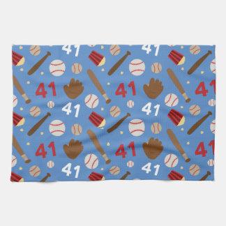 Baseball Player Uniform Number 41 Gift Idea Hand Towel