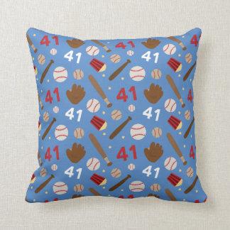 Baseball Player Uniform Number 41 Gift Idea Throw Pillows