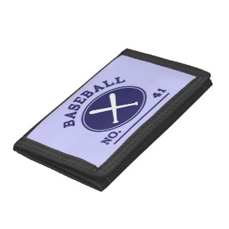 Baseball Player Uniform Number 41 Gift Idea Tri-fold Wallet