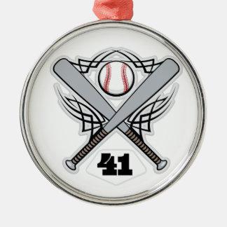 Baseball Player Uniform Number 41 Christmas Ornaments