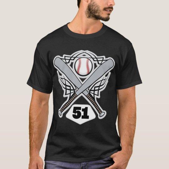 Baseball Player Uniform Number 51 T-Shirt
