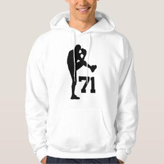 Baseball Player Uniform Number 71 Gift Hoodie