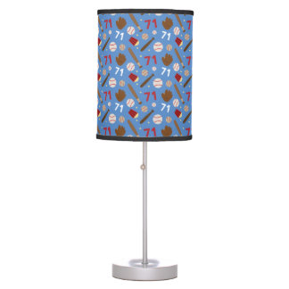 Baseball Player Uniform Number 71 Gift Idea Desk Lamp